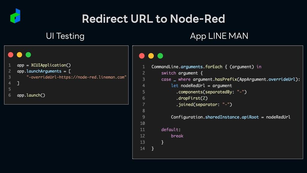 UI Testing App LINE MAN Redirect URL to Node-Red