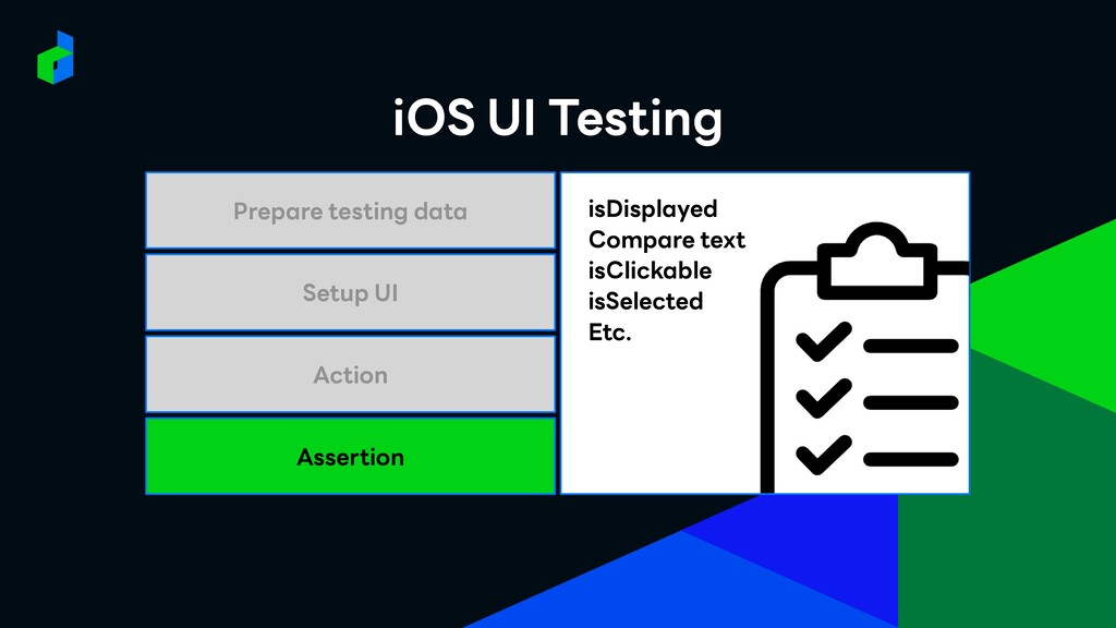 Assertion Action Setup UI Prepare testing data ...