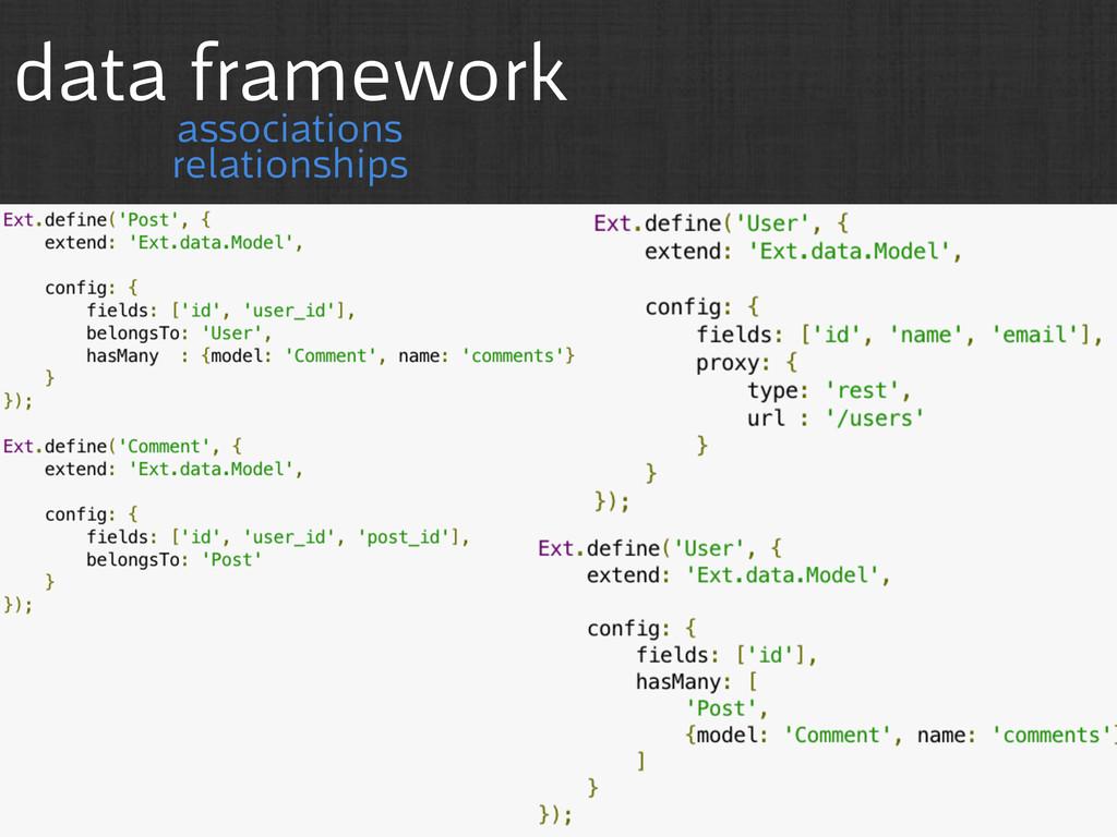 data framework associations relationships