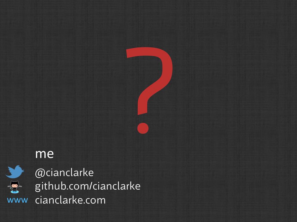 ? @cianclarke  github.com/cianclarke ciancla...