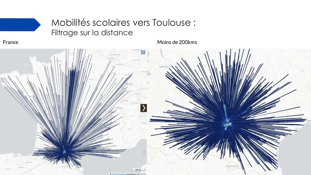 Mobilités scolaires vers Toulouse : Filtrage su...