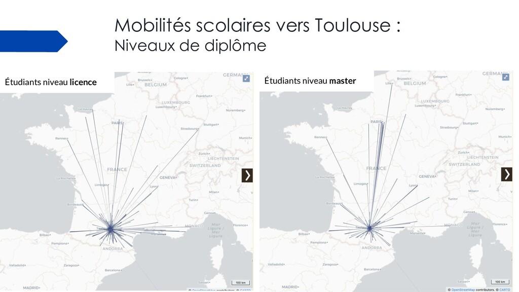 Mobilités scolaires vers Toulouse : Niveaux de ...
