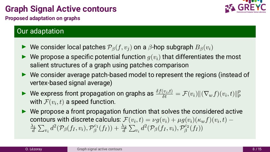 Graph Signal Active contours Proposed adaptatio...