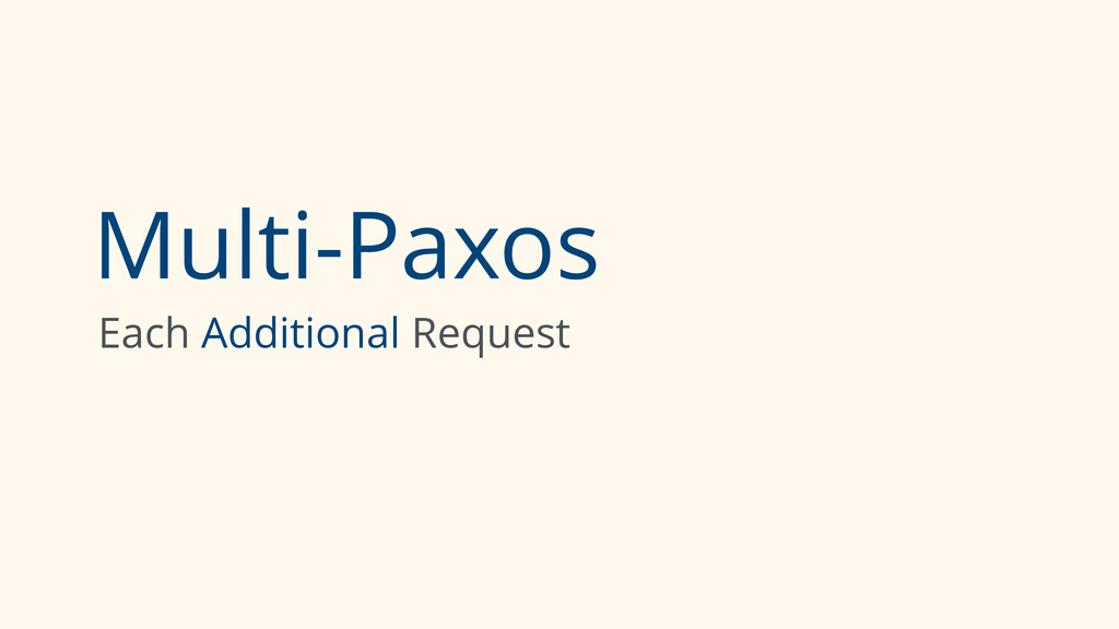 Multi-Paxos Each Additional Request