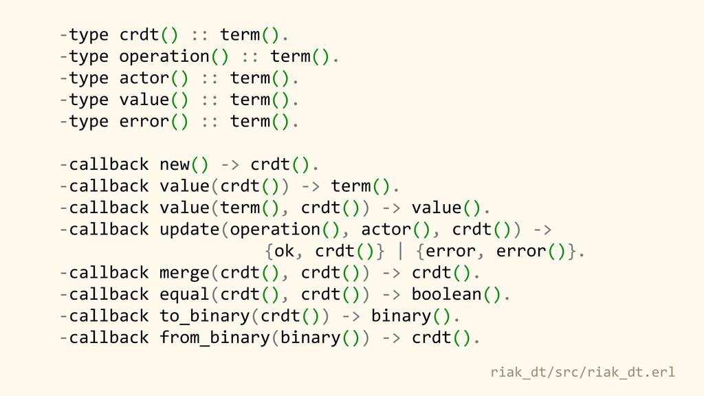 -‐type crdt() :: term().  -‐type...