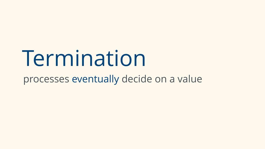 Termination processes eventually decide on a va...