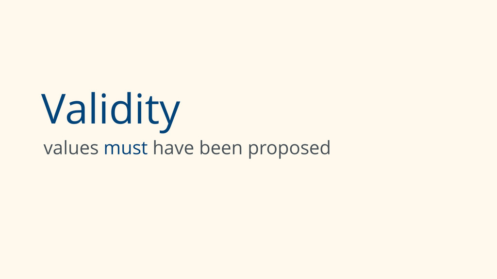 Validity values must have been proposed