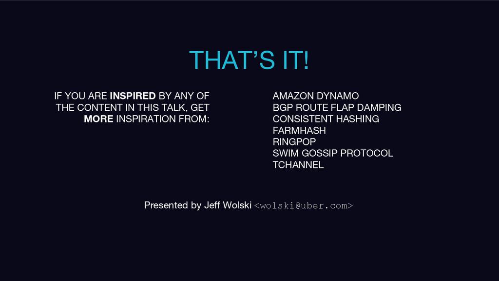 THAT'S IT! Presented by Jeff Wolski <wolski@ube...