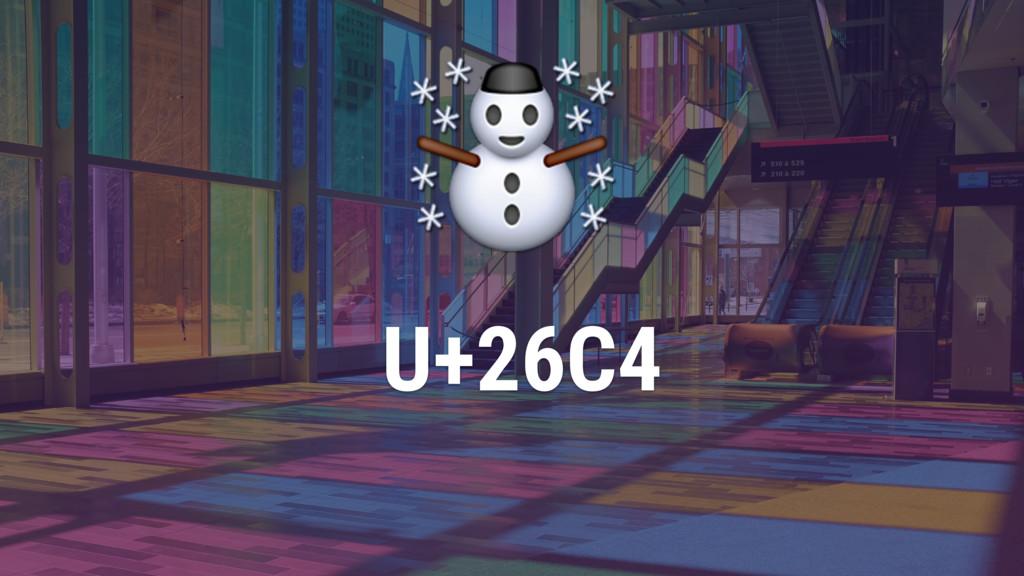 U+26C4 ☃