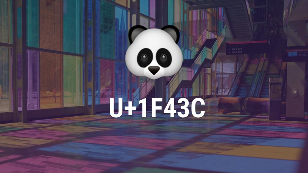 U+1F43C