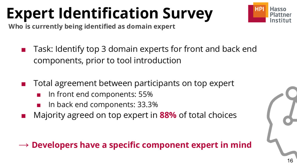 Expert Identification Survey ■ Task: Identify t...