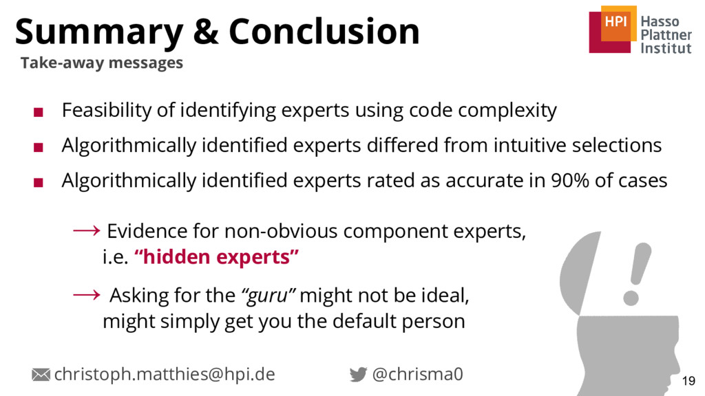 Summary & Conclusion ■ Feasibility of identifyi...