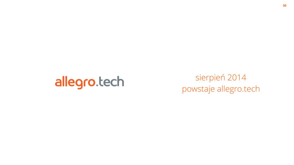 sierpień 2014 powstaje allegro.tech 30