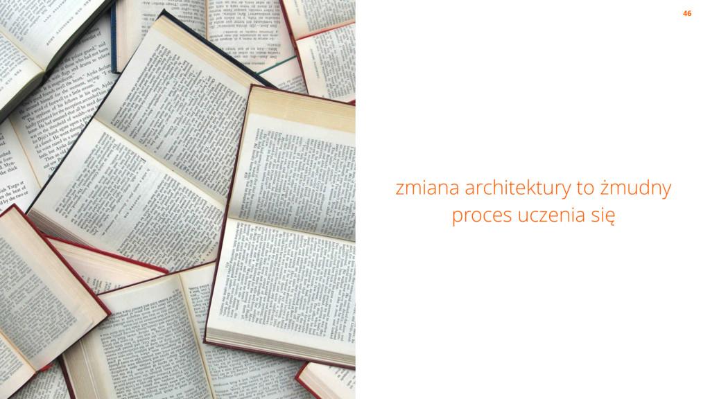 zmiana architektury to żmudny proces uczenia si...
