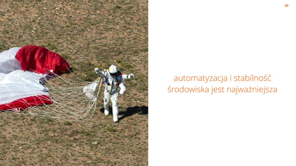 automatyzacja i stabilność środowiska jest najw...