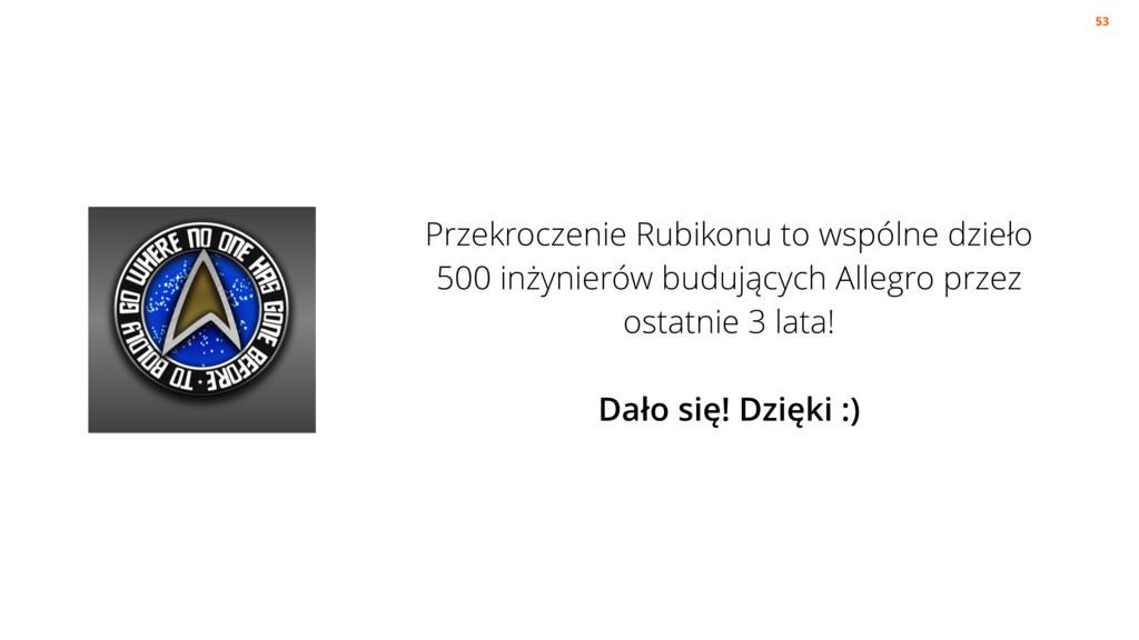 Przekroczenie Rubikonu to wspólne dzieło 500 in...