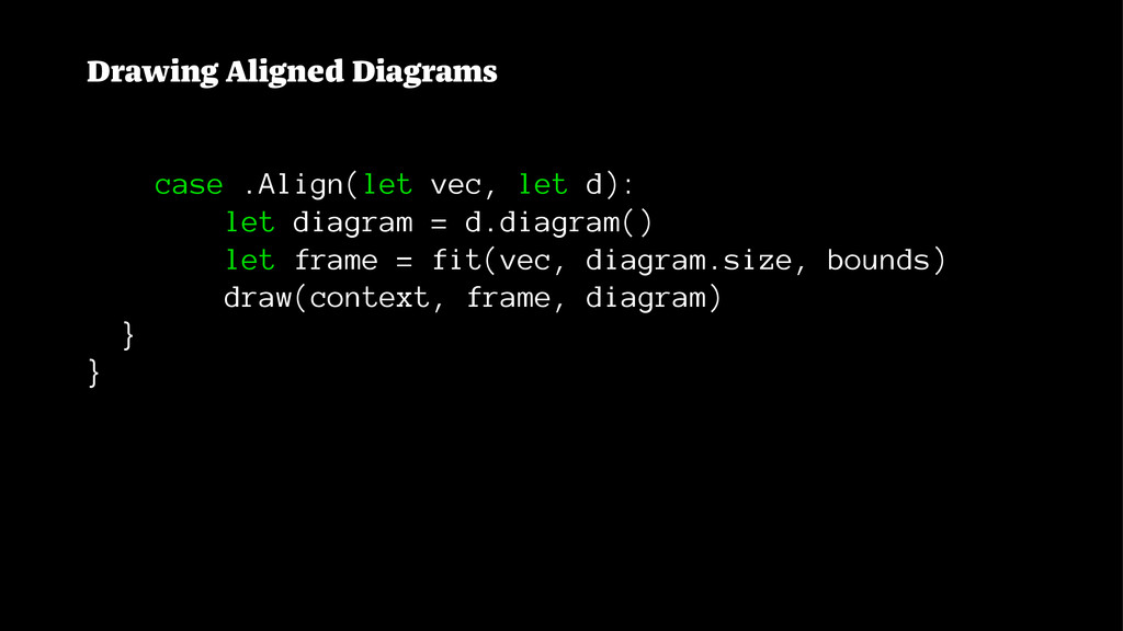 Drawing Aligned Diagrams case .Align(let vec, l...