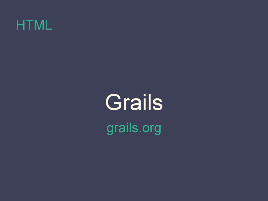 HTML Grails grails.org
