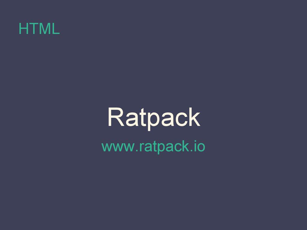 HTML Ratpack www.ratpack.io