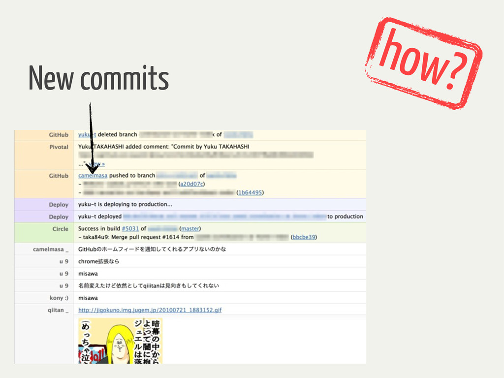 how? New commits