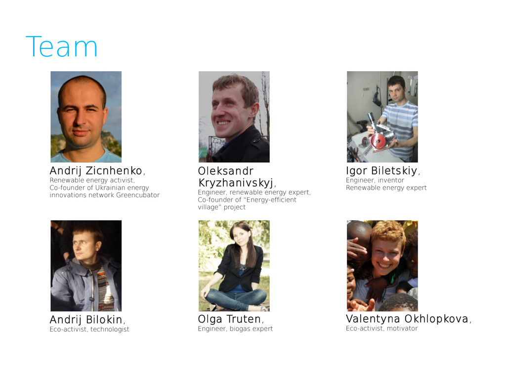 Team Andrij Bilokin, Eco-activist, technologist...