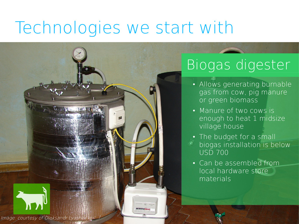 Technologies we start with Biogas digester Imag...