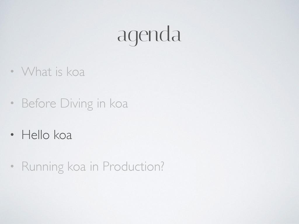 agenda • What is koa  • Before Diving in koa...