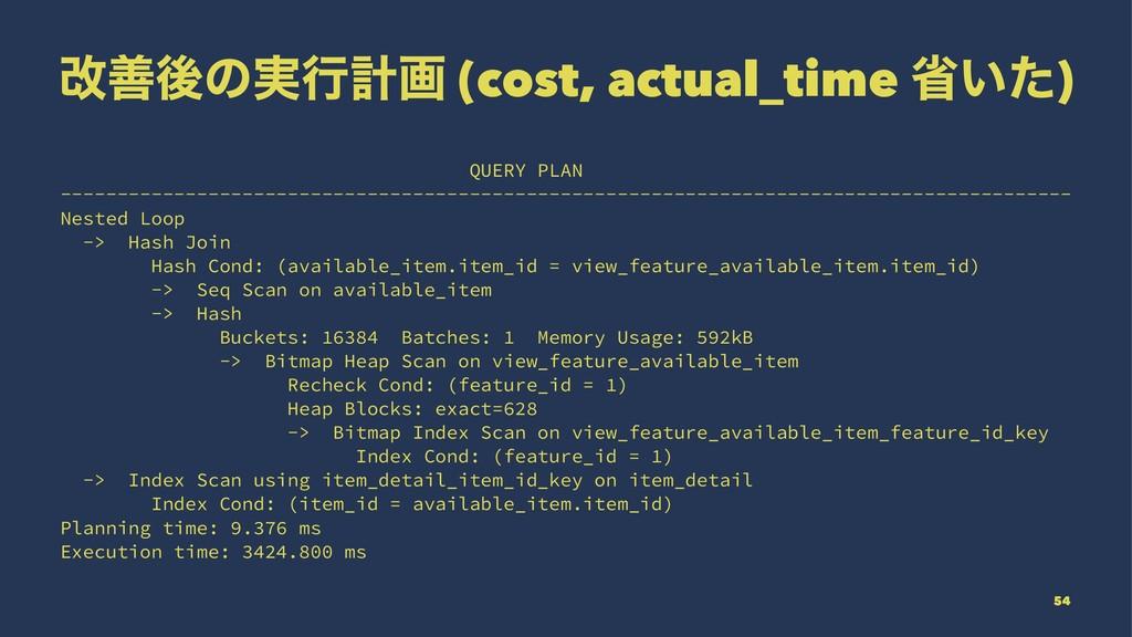 վળޙͷ࣮ߦܭը (cost, actual_time ল͍ͨ) QUERY PLAN ---...