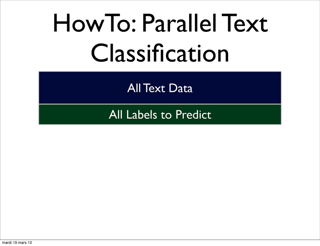 HowTo: Parallel Text Classification All Labels t...