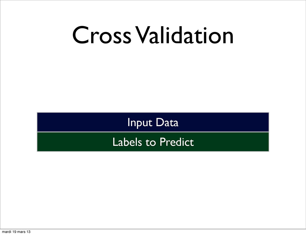 Cross Validation Labels to Predict Input Data m...