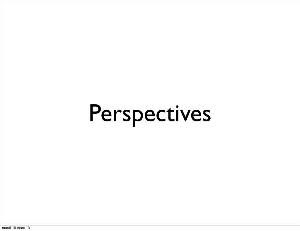 Perspectives mardi 19 mars 13