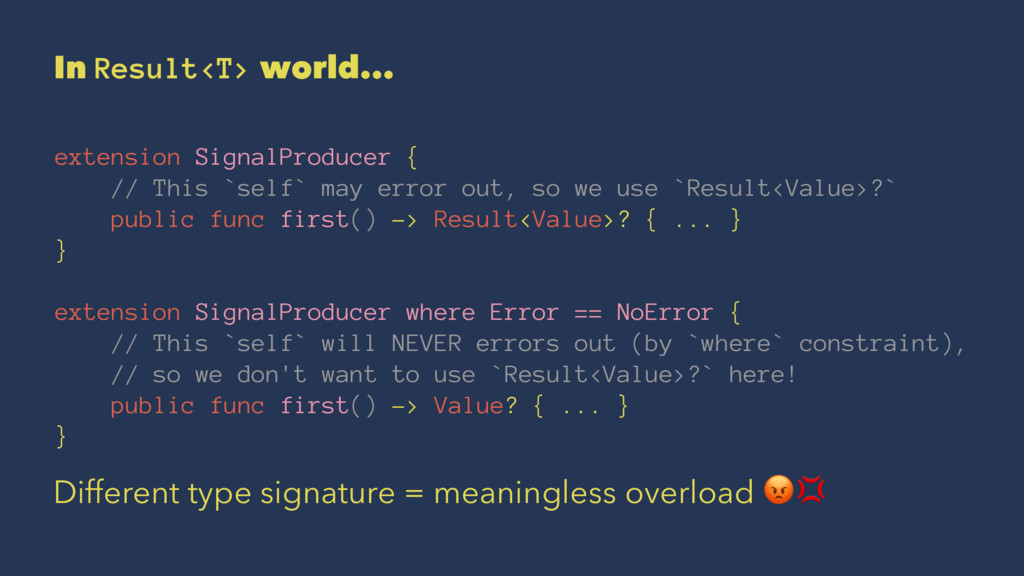 In Result<T> world... extension SignalProducer ...
