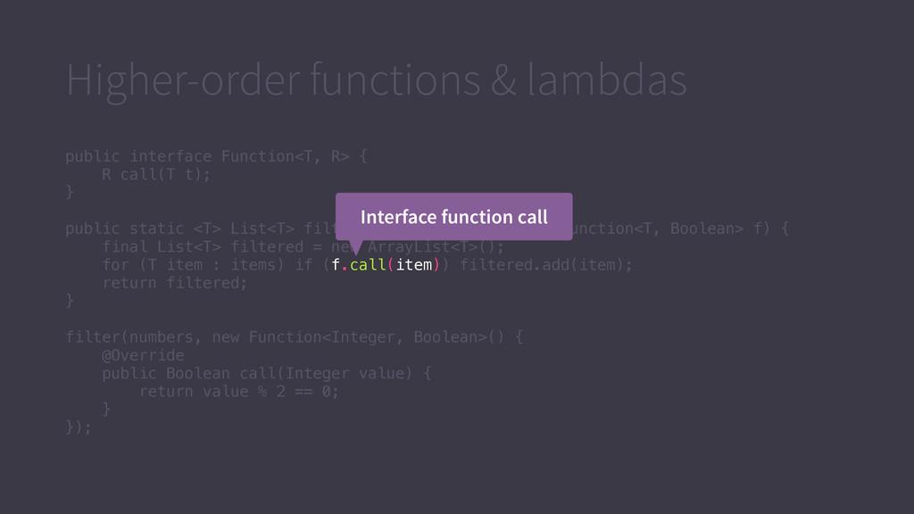 Higher-order functions & lambdas public interfa...