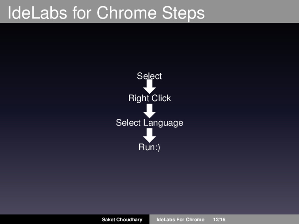 IdeLabs for Chrome Steps Select Right Click Sel...