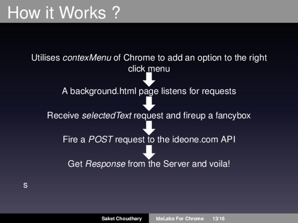 How it Works ? Utilises contexMenu of Chrome to...