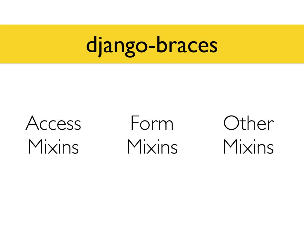 django-braces Access Mixins Form Mixins Other M...