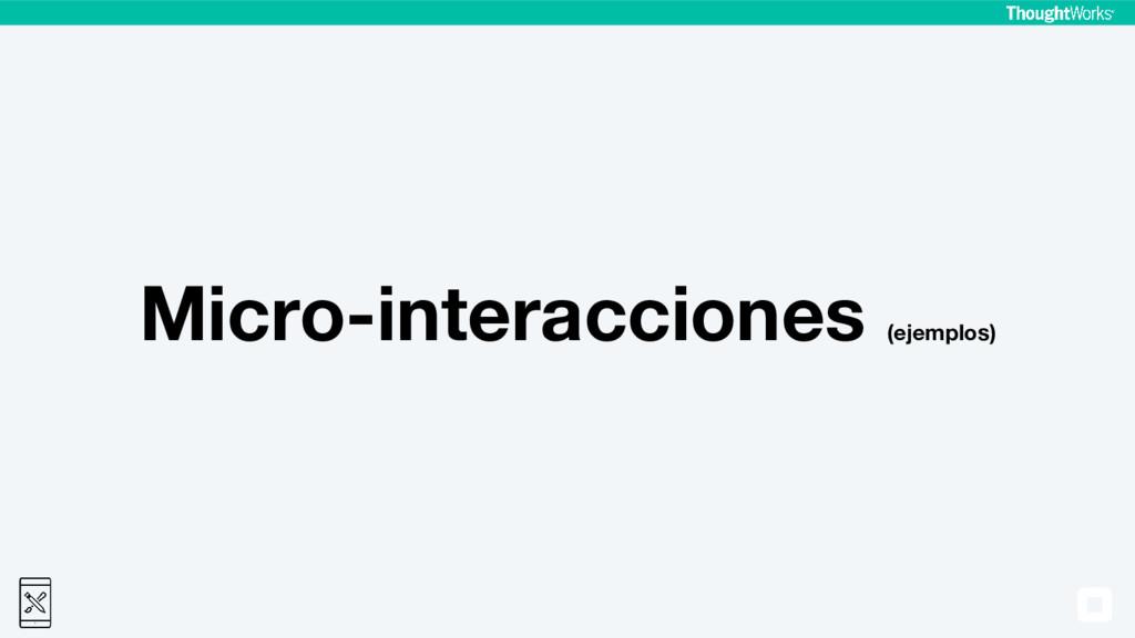 Micro-interacciones (ejemplos)