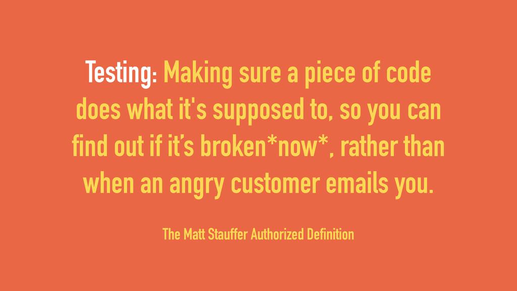 The Matt Stauffer Authorized Definition Testing...