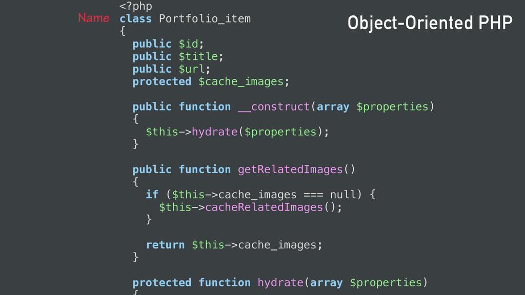 <?php class Portfolio_item { public $id; public...