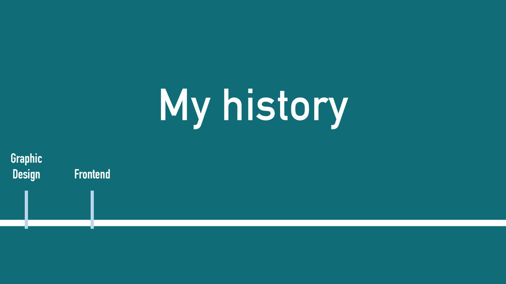 My history Graphic Design Frontend