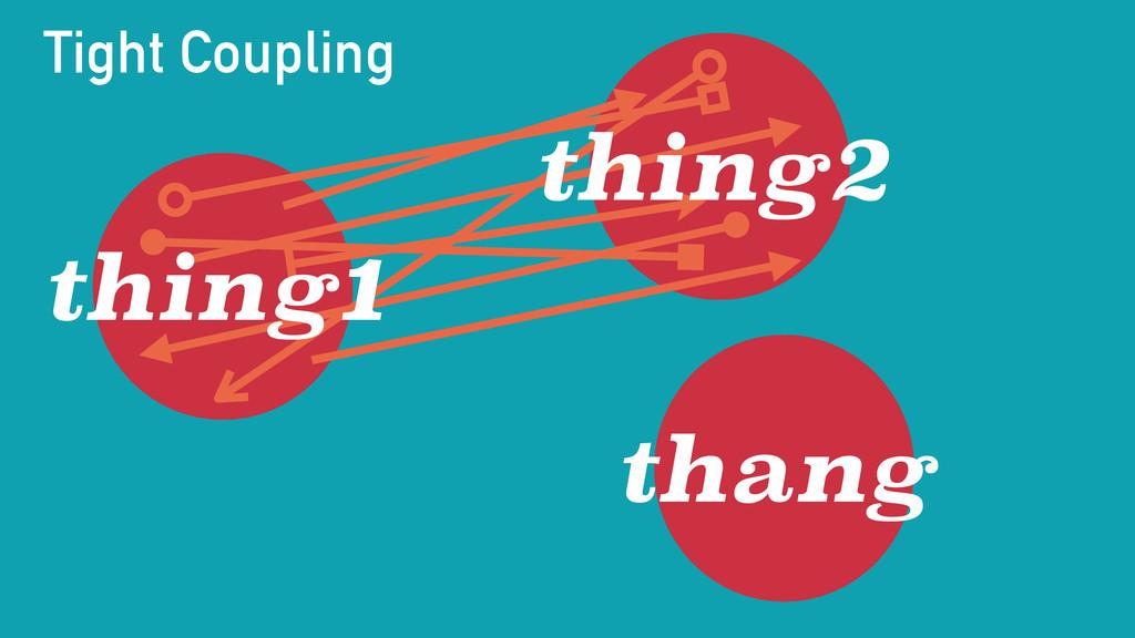 thing2 thang thing1 Tight Coupling