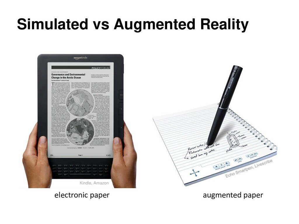 Simulated vs Augmented Reality augmented paper ...