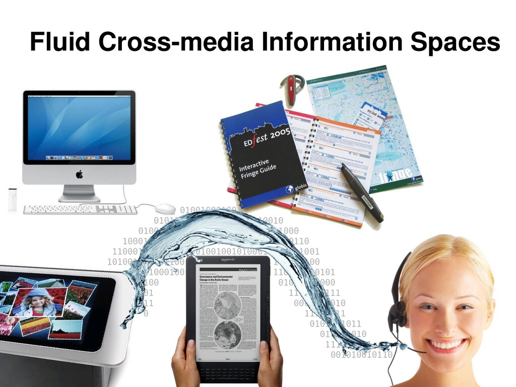 Fluid Cross-media Information Spaces 0100100010...