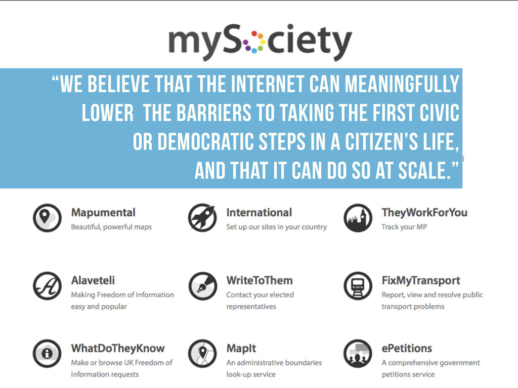 """We believe that the internet can meaningfully ..."