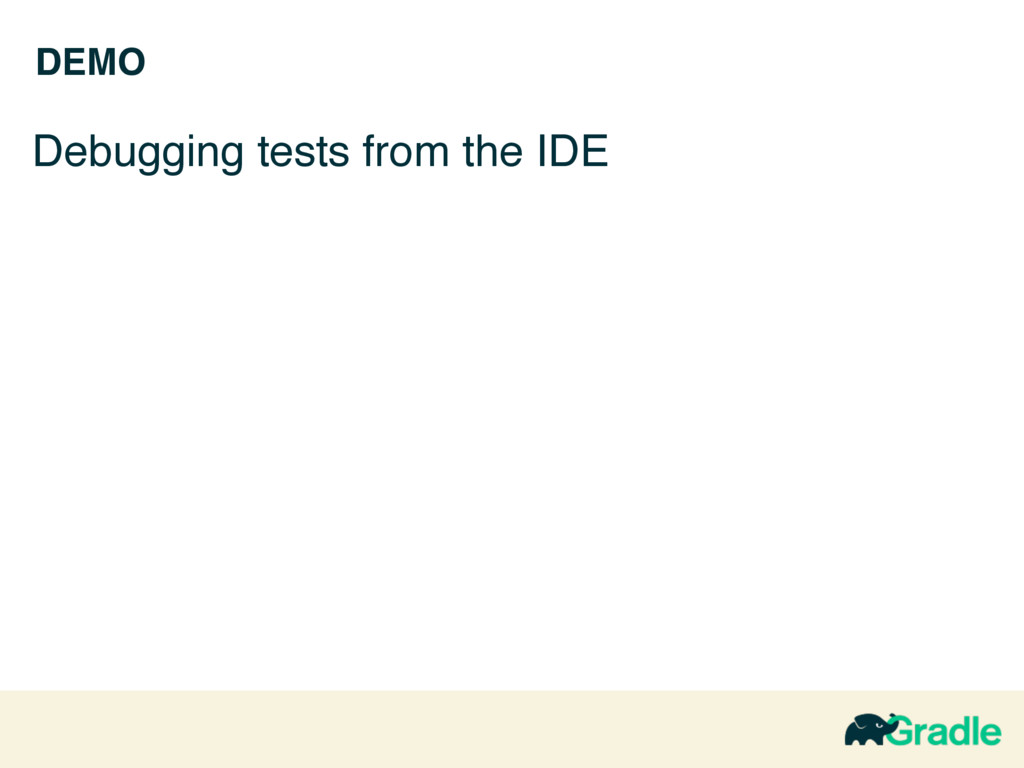 DEMO Debugging tests from the IDE