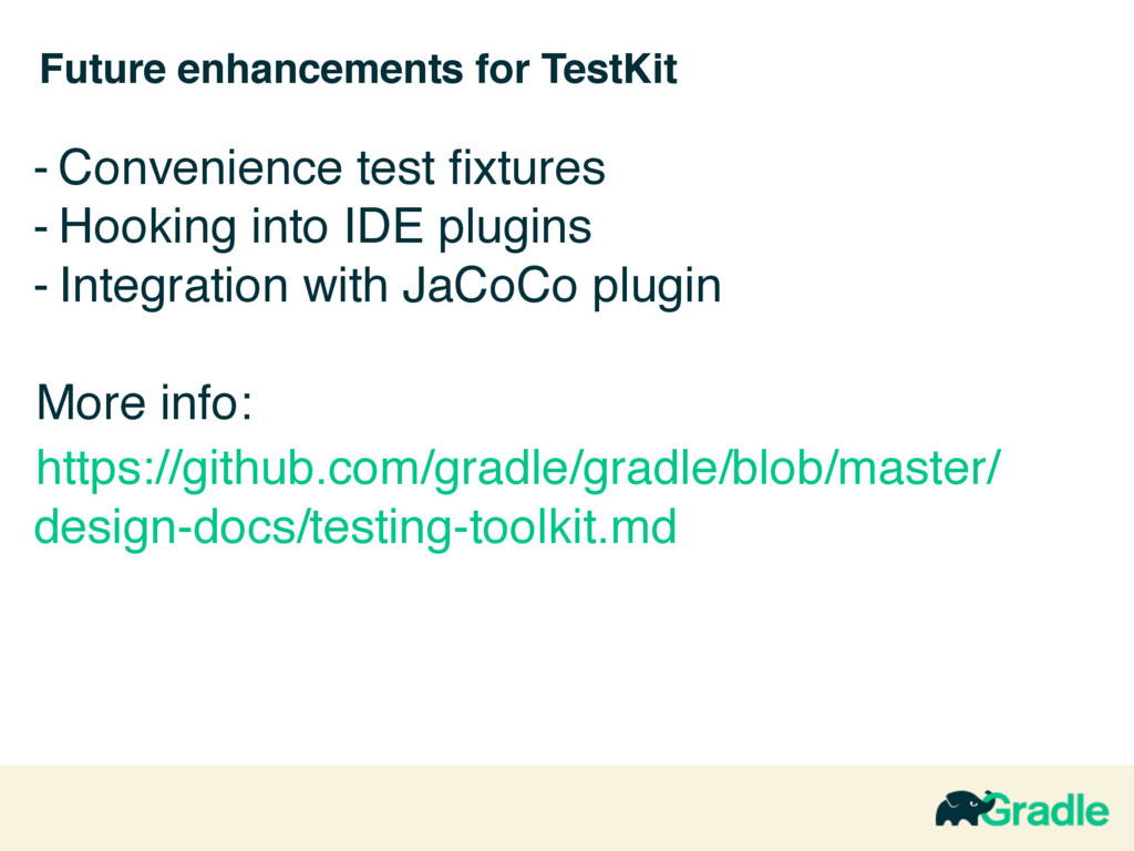 Future enhancements for TestKit - Convenience t...