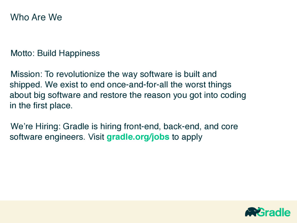 Who Are We Motto: Build Happiness Mission: To r...