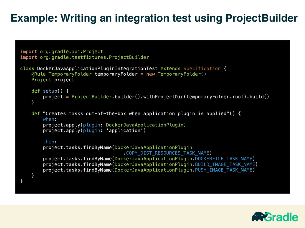 Example: Writing an integration test using Proj...