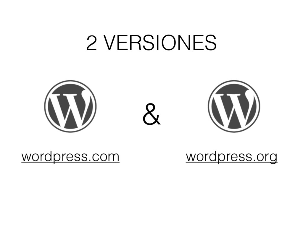 2 VERSIONES wordpress.com wordpress.org &