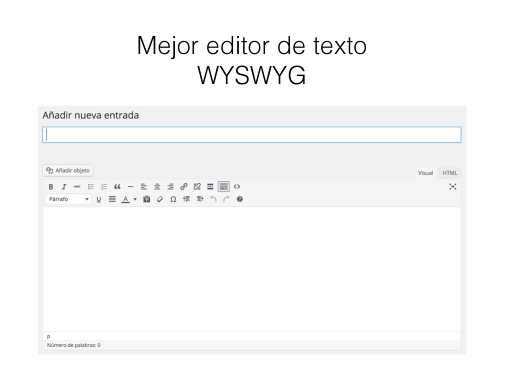 Mejor editor de texto WYSWYG